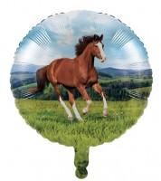 """Runder Folienballon """"Pferde"""" - 45 cm"""