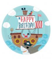 """Pappteller """"Ahoy Birthday"""" - 8 Stück"""
