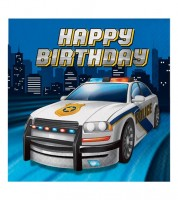 "Servietten ""Polizei Party"" - Happy Birthday - 16 Stück"