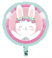 "Runder Folienballon ""Häschen"" - 46 cm"