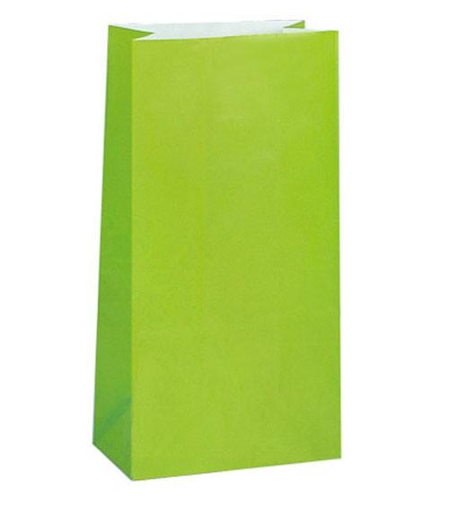 12 Papiertüten - limette