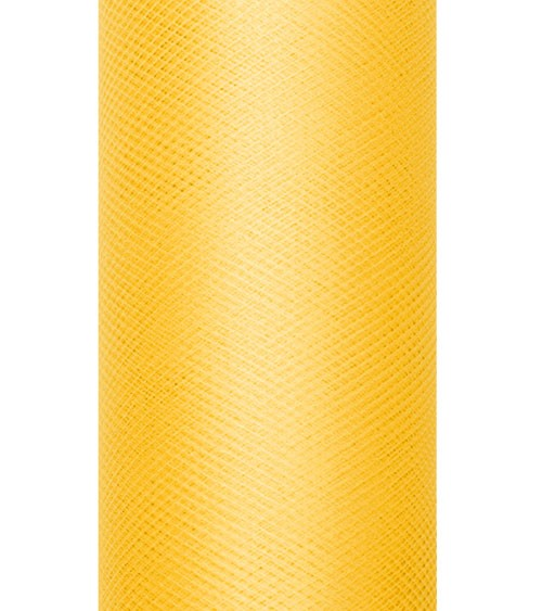 Tischband aus Tüll - gelb - 15 cm x 9 m