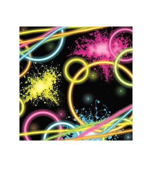 """Cocktail-Servietten """"Neon Party"""" - 16 Stück"""