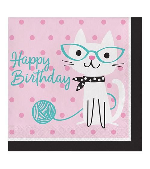 """Servietten """"Kleine Katzen"""" - Happy Birthday - 16 Stück"""