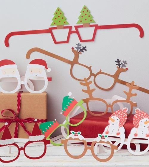 """Party-Brillen """"Weihnachten"""" - 8 Stück"""