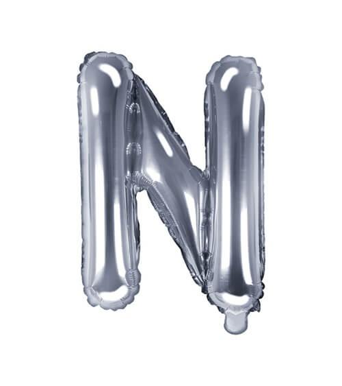"""Folienballon Buchstabe """"N"""" - silber - 35 cm"""