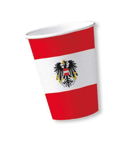 """Pappbecher """"Österreich"""" - 10 Stück"""