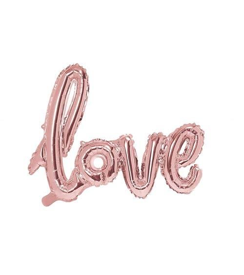 "Script-Folienballon ""Love"" - rosegold - 73 x 59 cm"
