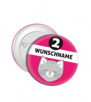 """Dein Button """"Katze"""" - Wunschtext"""