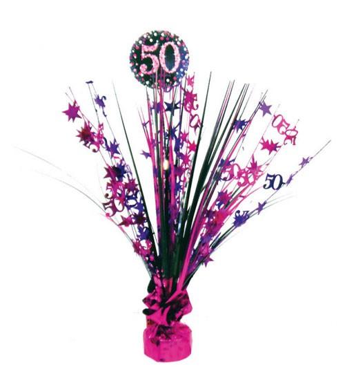 """Tischaufsteller """"Sparkling Pink"""" - 50. Geburtstag"""