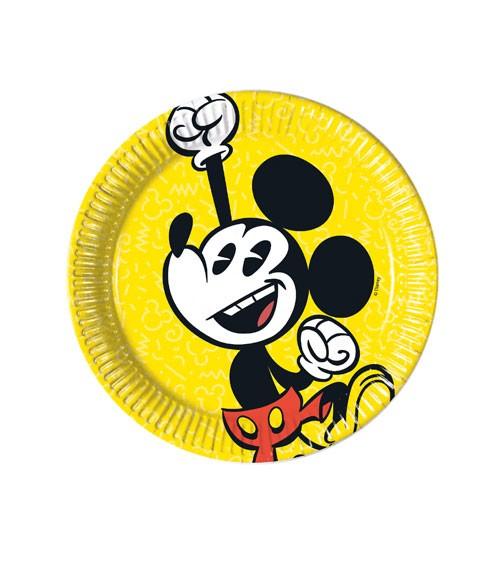 "Kleine Pappteller ""Mickey Mouse Comic"" - 8 Stück"