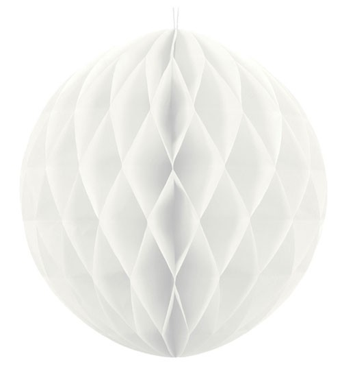 Wabenball - 30 cm - weiß