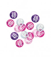 "Streukonfetti ""40"" - pink - 14 g"