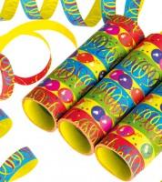 "Papierluftschlangen ""Party"" - bunt - 3 Stück"