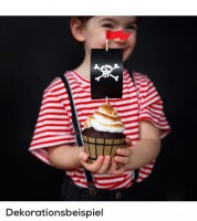 "Cupcake-Deko-Set ""Pirates Party"" - 12-teilig"