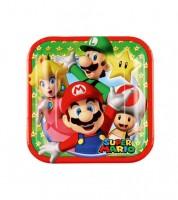 """Kleine Pappteller """"Nintendo Super Mario"""" - 8 Stück"""