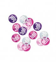 "Streukonfetti ""30"" - pink - 14 g"