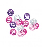 "Streukonfetti ""50"" - pink - 14 g"