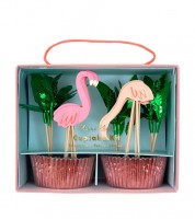 "Cupcake-Kit ""Flamingo"" - 48-teilig"
