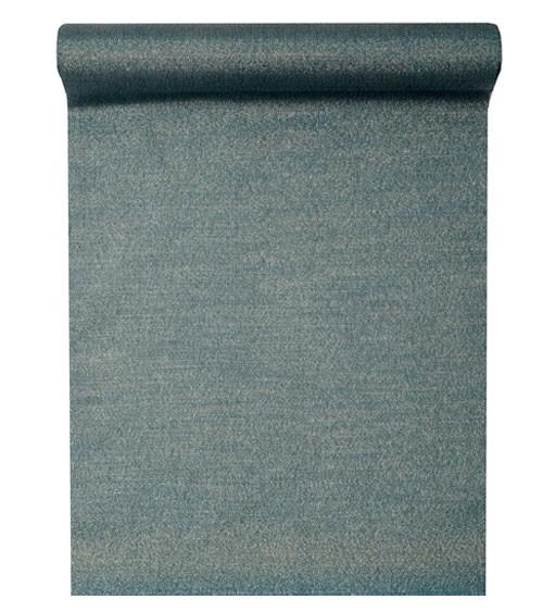 Tischläufer mit Goldglanz - blau - 28 cm x 3 m