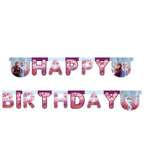 """Happy Birthday-Girlande """"Die Eiskönigin 2"""" - 2 m"""