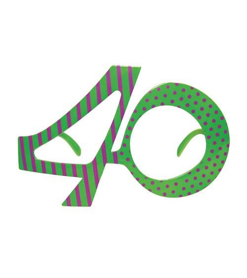 """Partybrille """"40"""" - grün/violett"""