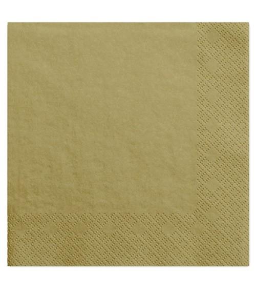 Servietten - gold - 20 Stück