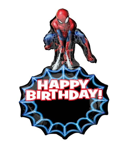 "Supershape-Folienballon ""Spider-Man"" - Happy Birthday"