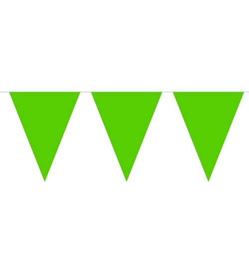 Wimpelgirlande aus Kunststoff - grün - 10m