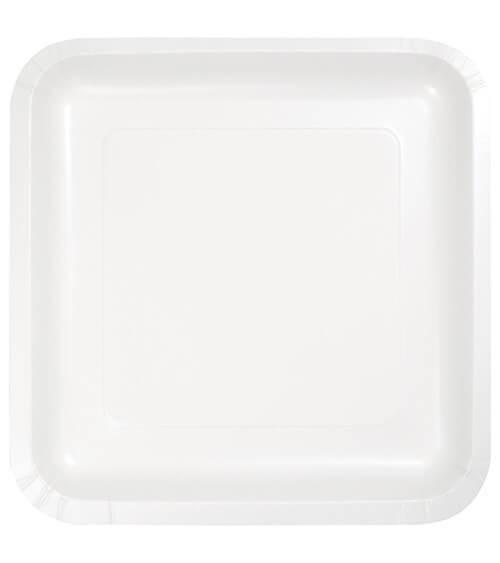 Eckige Pappteller - weiß - 18 Stück