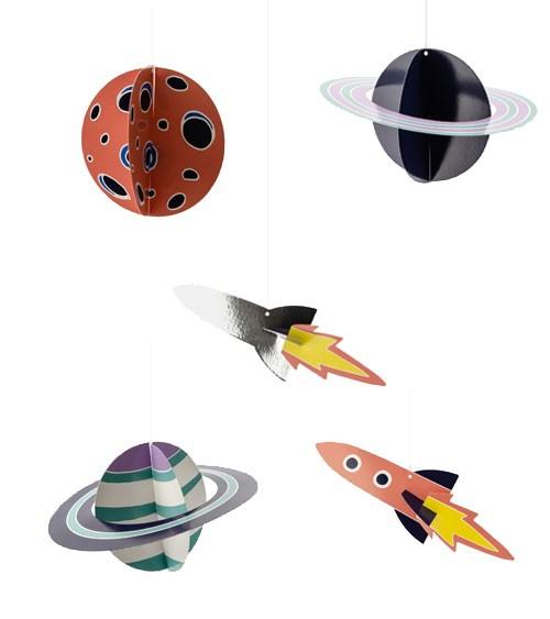 """DIY Hängedeko """"Space Party"""" - 5-teilig"""