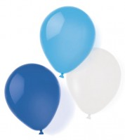 """Luftballon-Set """"Farbmix Blau - 25,4 cm - 8-teilig"""