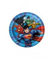 """Kleine Pappteller """"Justice League"""" - 8 Stück"""