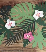 "Papierblätter ""Aloha Party"" - 21 Stück"