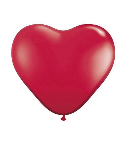 Herz-Luftballons - 30 cm - rot - 8 Stück