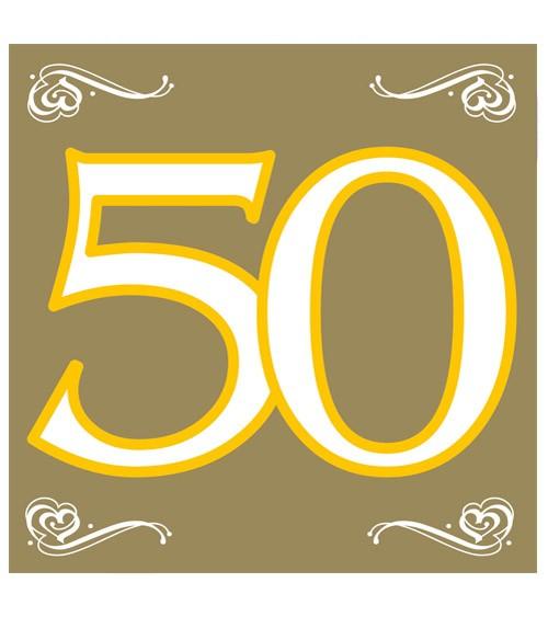 """Servietten """"50"""" - gold - 20 Stück"""