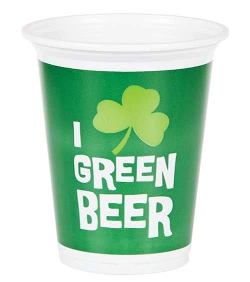 """Plastikbecher """"St. Patrick's Day"""" - 8 Stück"""
