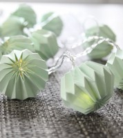 "LED-Lichterkette ""Paper Flower"" - mint - 2,25 m"