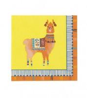 """Cocktail-Servietten - """"Mexican Boho"""" - Lama - 20 Stück"""