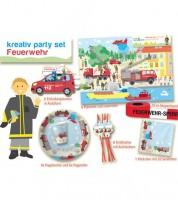 """Kreativ-Partyset """"Feuerwehreinsatz"""" für 6 Personen"""