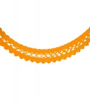 Seidenpapiergirlande - orange - 4 m