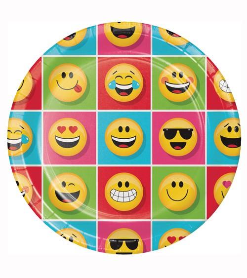 """Pappteller """"Emoticon"""" - 8 Stück"""