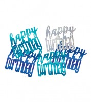 "Streukonfetti ""Happy Birthday"" - blau - 14 g"