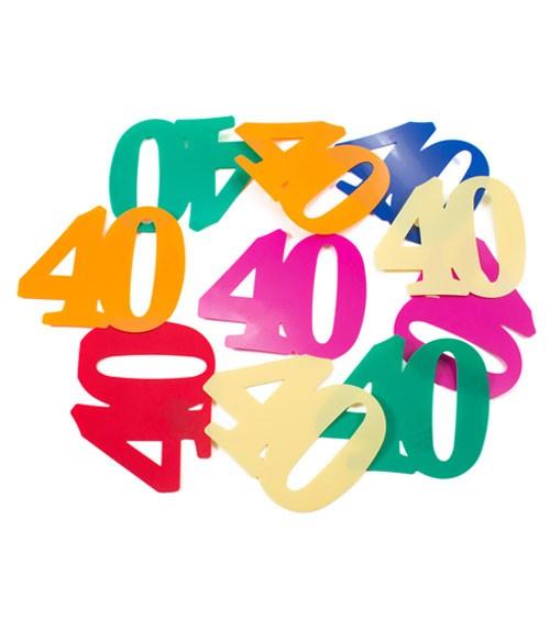 XL-Streudeko 40. Geburtstag - bunt - 14 g
