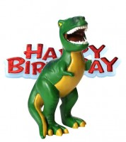 "Tortendekoration ""Dinosaurier"" Happy Birthday - 2-teilig"
