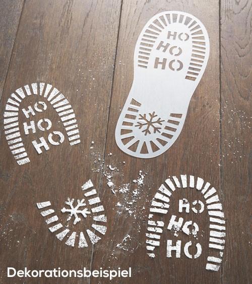Weihnachtsmann Schuhabdruck Schablonen - 2-teilig