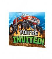 """Einladungskarten """"Monster Truck Show"""" - 8 Stück"""