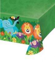 """Kunststoff-Tischdecke """"Dschungel Safari"""" - 137 x 259 cm"""