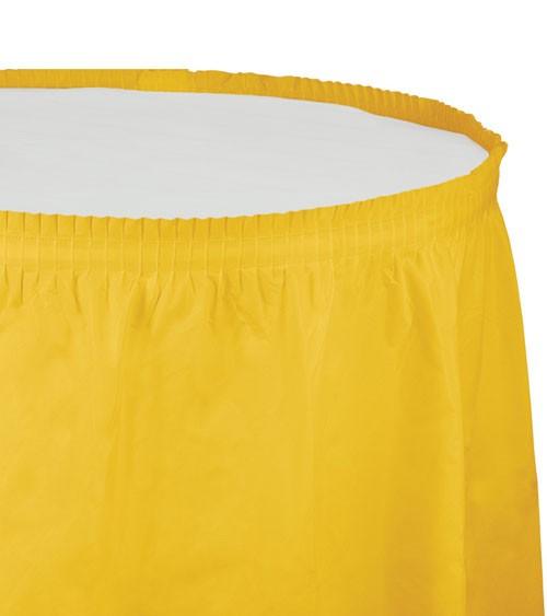 Tischverkleidung - school bus yellow - 4,26 m