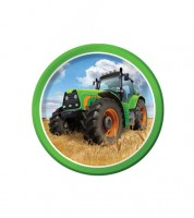 """Kleine Pappteller """"Traktor"""" - 8 Stück"""